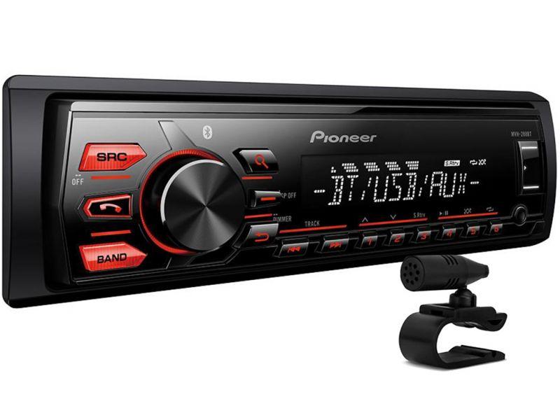 MVH-288BT Media Receiver Pioneer com Bluetooth